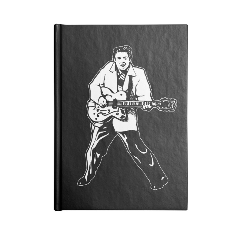 Eddie Cochran - Black Edition Accessories Lined Journal Notebook by Midnight Studio