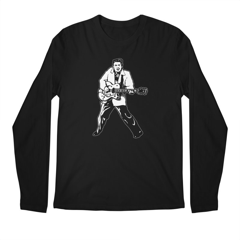 Eddie Cochran - Black Edition Men's Longsleeve T-Shirt by Midnight Studio