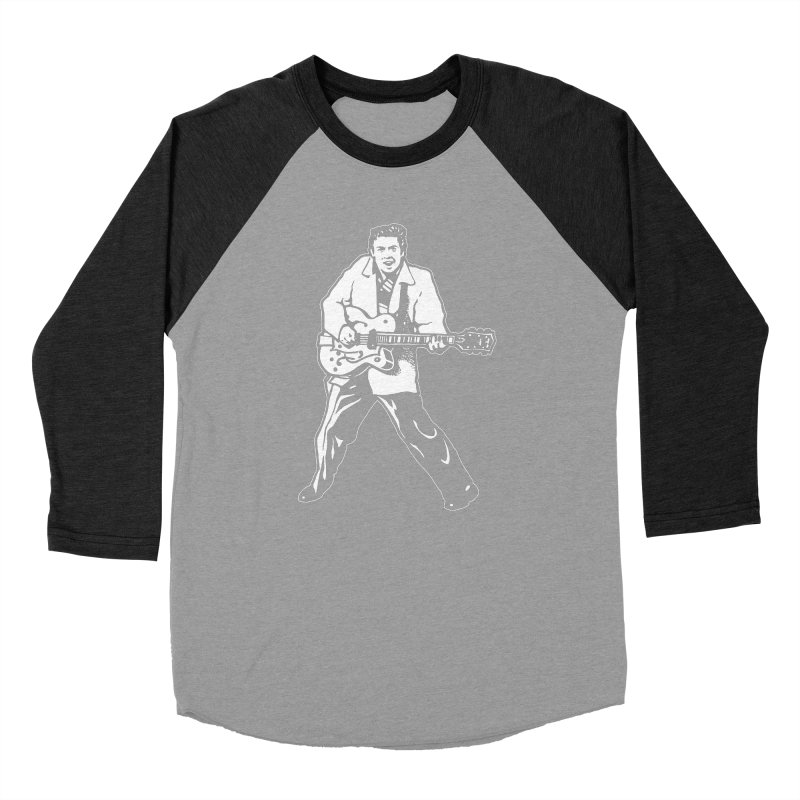 Eddie Cochran - Black Edition Women's Baseball Triblend Longsleeve T-Shirt by Midnight Studio