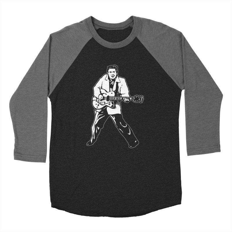 Eddie Cochran - Black Edition Men's Baseball Triblend Longsleeve T-Shirt by Midnight Studio