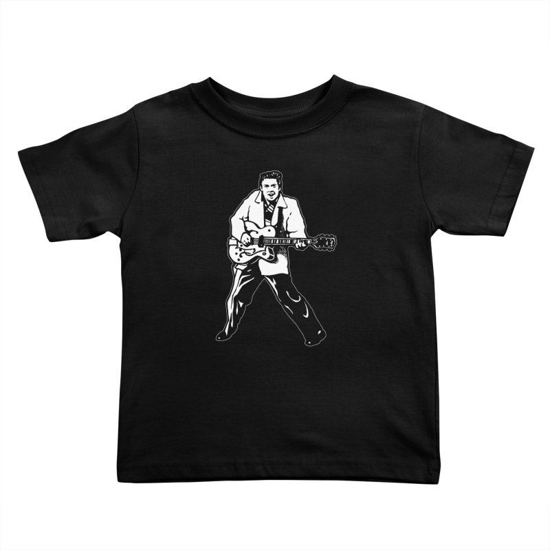 Eddie Cochran - Black Edition Kids Toddler T-Shirt by Midnight Studio