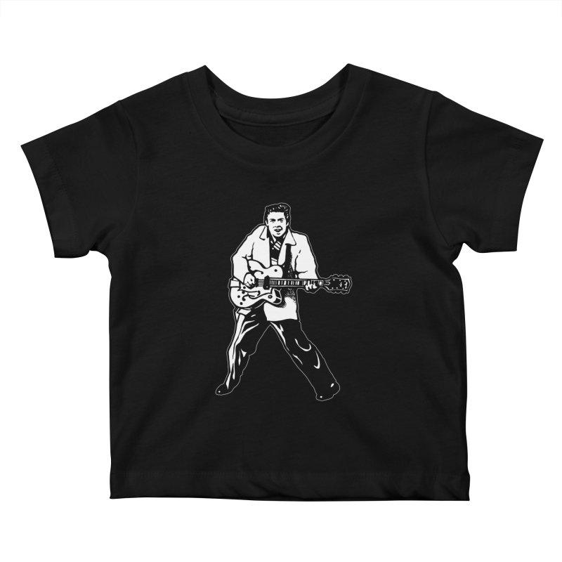 Eddie Cochran - Black Edition Kids Baby T-Shirt by Midnight Studio