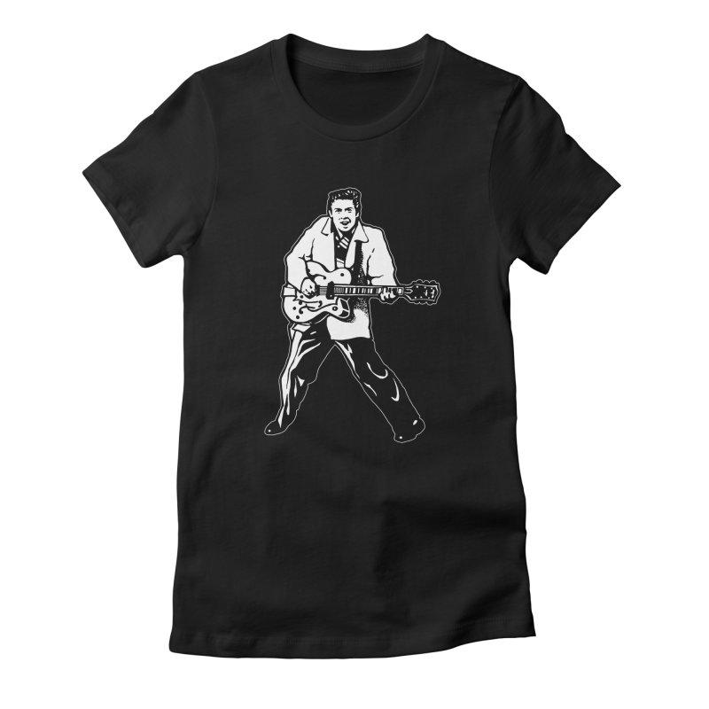 Eddie Cochran - Black Edition Women's T-Shirt by Midnight Studio