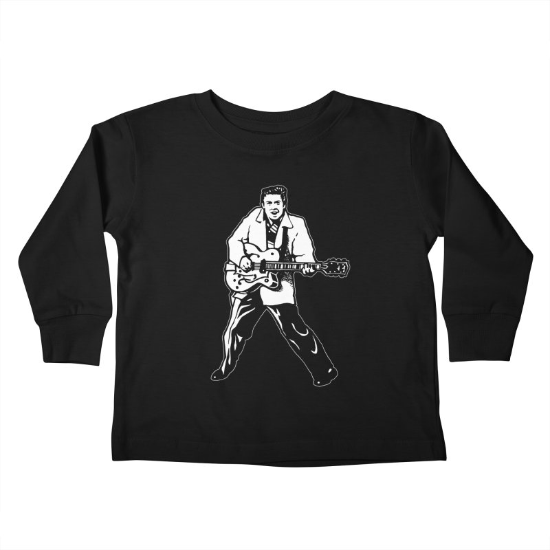 Eddie Cochran - Black Edition Kids Toddler Longsleeve T-Shirt by Midnight Studio