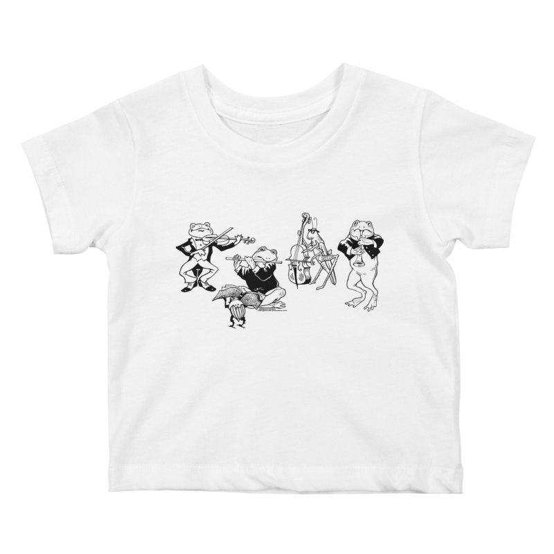Spring Quartet Kids Baby T-Shirt by Midnight Studio