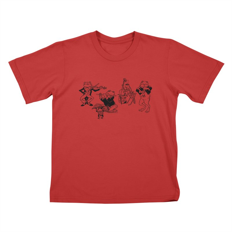 Spring Quartet Kids T-Shirt by Midnight Studio