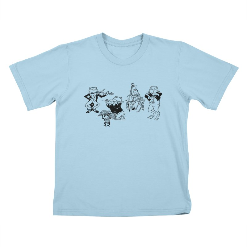 Spring Quartet in Kids T-Shirt Powder Blue by Midnight Studio
