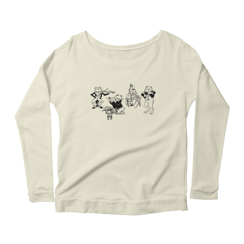 Spring Quartet Women's Scoop Neck Longsleeve T-Shirt by Midnight Studio