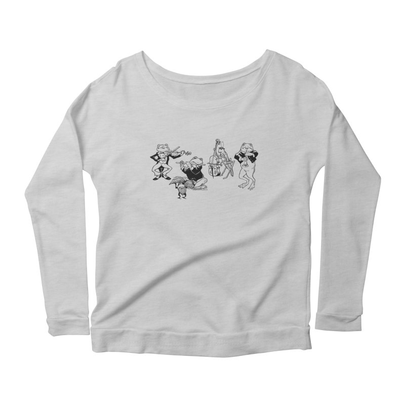 Spring Quartet Women's Longsleeve Scoopneck  by Midnight Studio