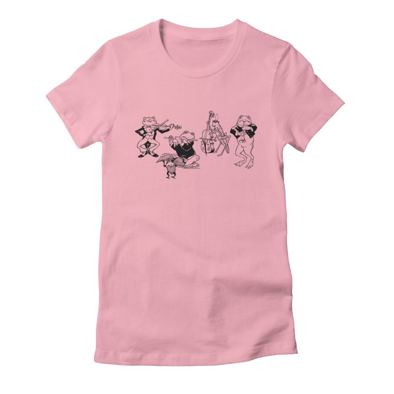 Spring Quartet Women's Fitted T-Shirt by Midnight Studio