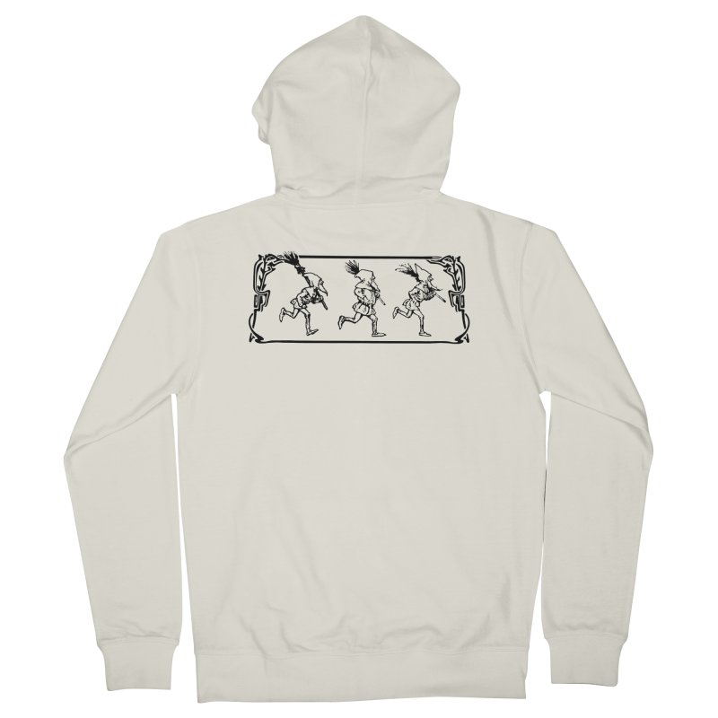 Gnomes Women's French Terry Zip-Up Hoody by Midnight Studio