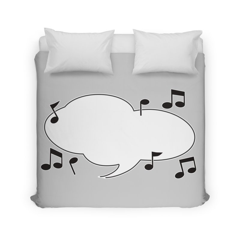 DIY Favorite Song/Lyric Home Duvet by Midnight Studio
