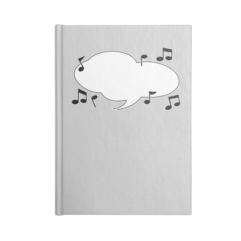 DIY Favorite Song/Lyric Accessories Blank Journal Notebook by Midnight Studio
