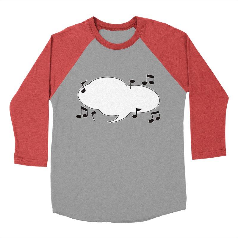 DIY Favorite Song/Lyric Men's Baseball Triblend Longsleeve T-Shirt by Midnight Studio