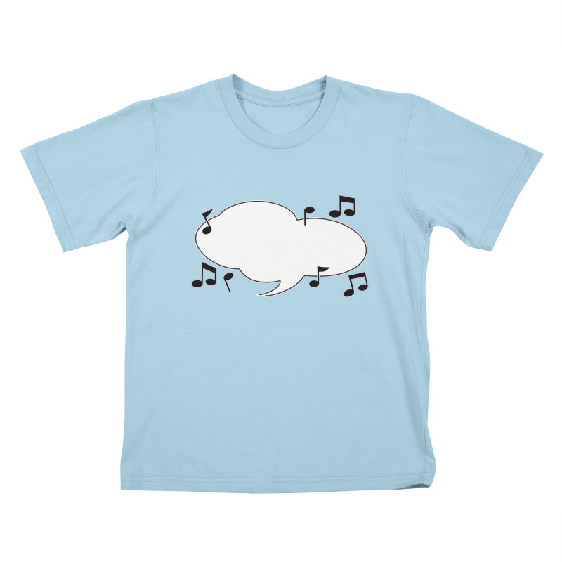 DIY Favorite Song/Lyric Kids T-Shirt by Midnight Studio
