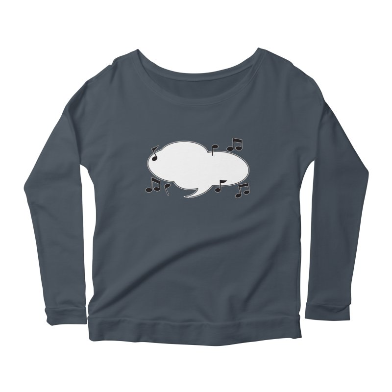 DIY Favorite Song/Lyric Women's Scoop Neck Longsleeve T-Shirt by Midnight Studio