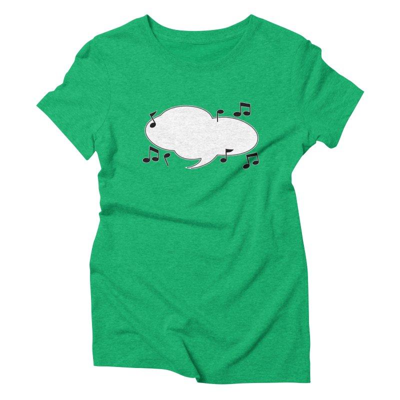 DIY Favorite Song/Lyric Women's Triblend T-Shirt by Midnight Studio