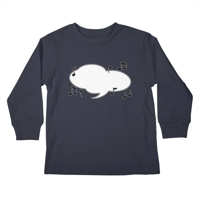 DIY Favorite Song/Lyric Kids Longsleeve T-Shirt by Midnight Studio