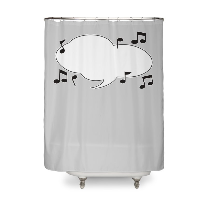 DIY Favorite Song/Lyric Home Shower Curtain by Midnight Studio
