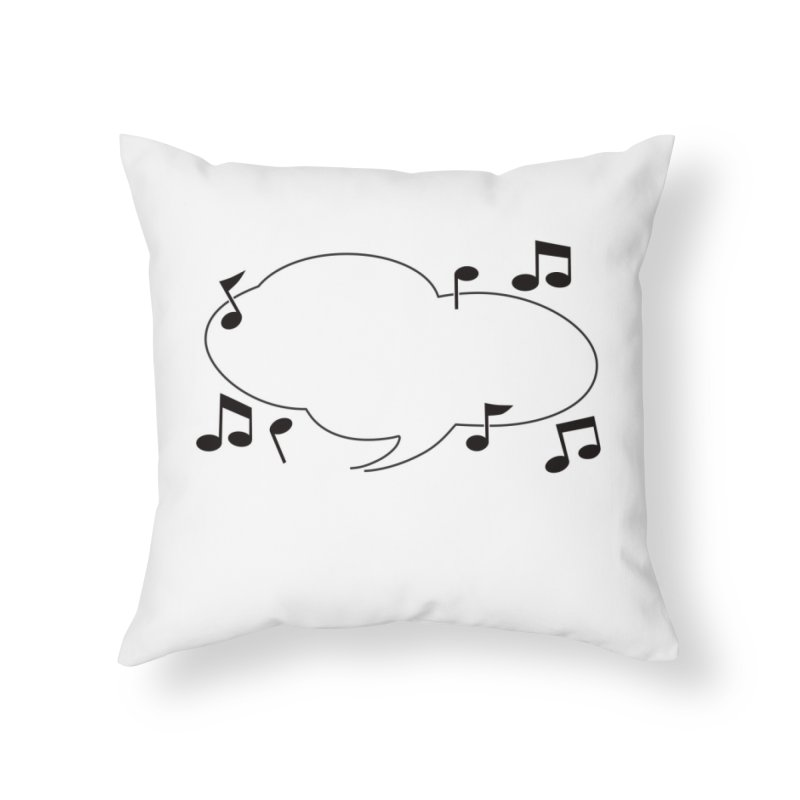 DIY Favorite Song/Lyric Home Throw Pillow by Midnight Studio