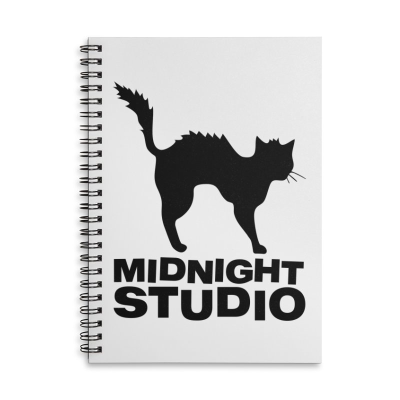 Studio Shirt Accessories Lined Spiral Notebook by Midnight Studio
