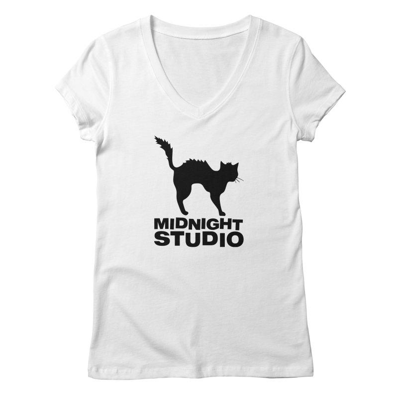 Studio Shirt Women's V-Neck by Midnight Studio