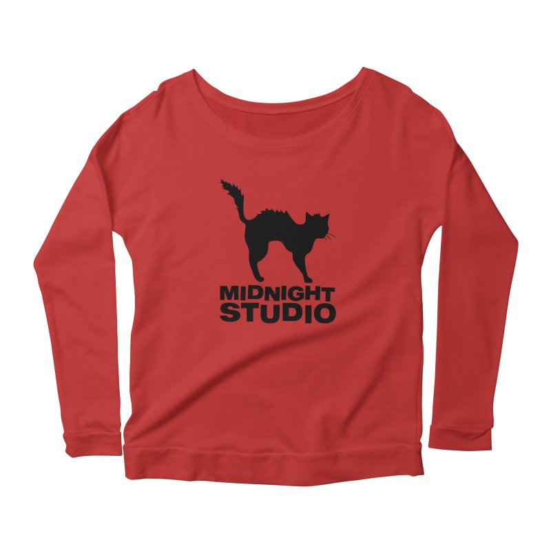 Studio Shirt Women's Scoop Neck Longsleeve T-Shirt by Midnight Studio