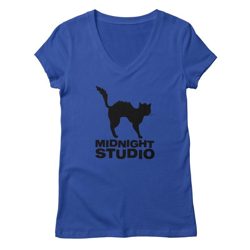 Studio Shirt Women's Regular V-Neck by Midnight Studio