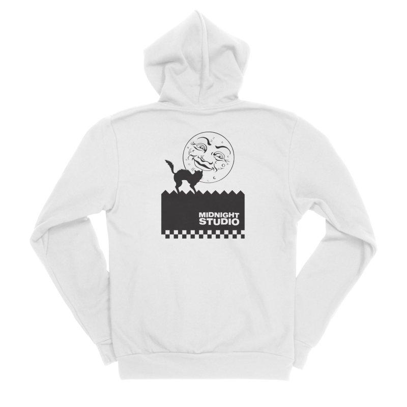 Classic Logo Shirt Men's Sponge Fleece Zip-Up Hoody by Midnight Studio