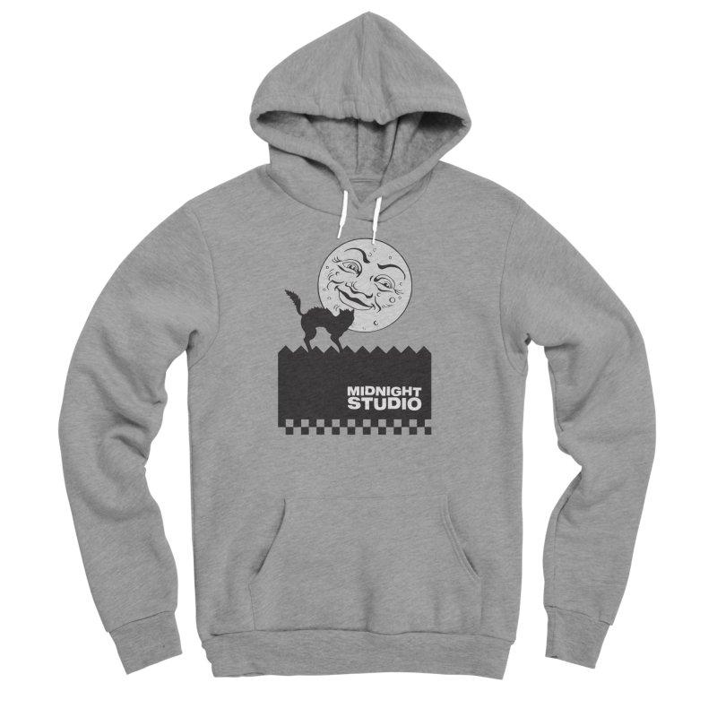Classic Logo Shirt Men's Sponge Fleece Pullover Hoody by Midnight Studio
