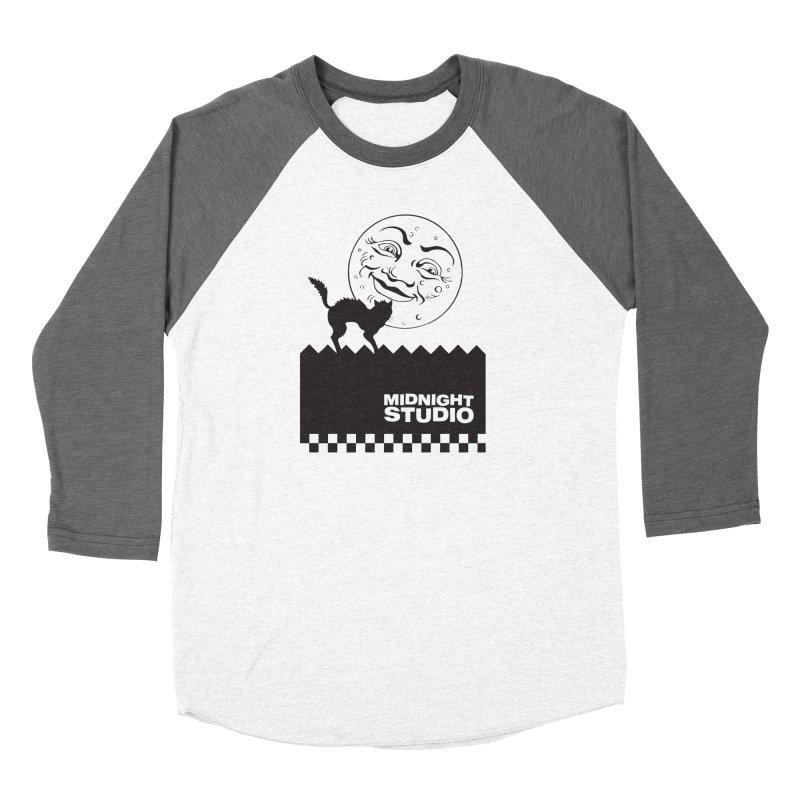 Classic Logo Shirt Women's Baseball Triblend Longsleeve T-Shirt by Midnight Studio