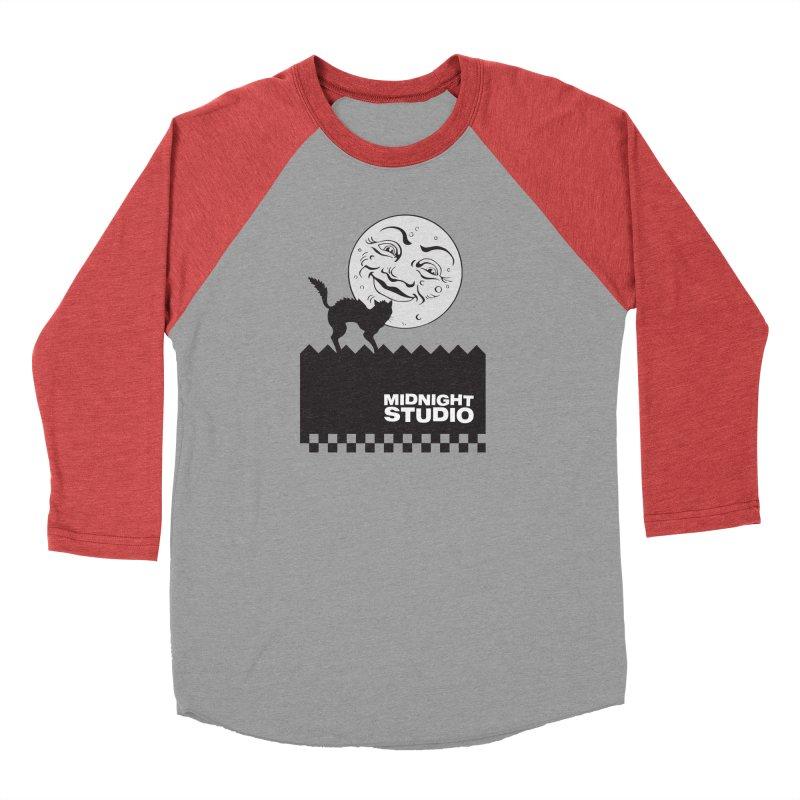 Classic Logo Shirt Men's Baseball Triblend Longsleeve T-Shirt by Midnight Studio