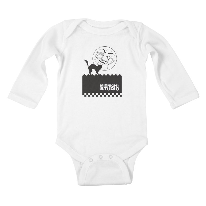 Classic Logo Shirt Kids Baby Longsleeve Bodysuit by Midnight Studio