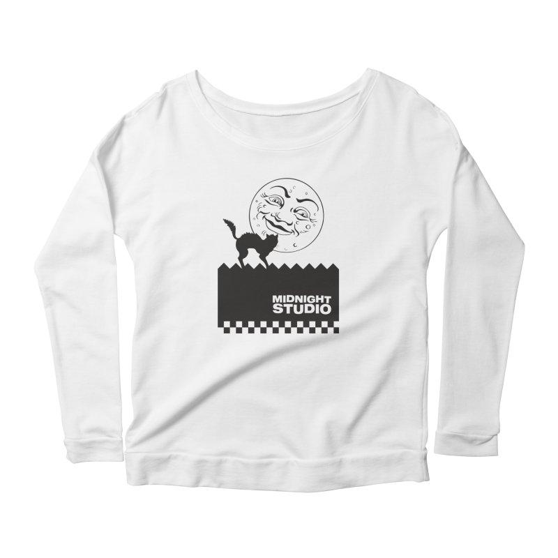 Classic Logo Shirt Women's Scoop Neck Longsleeve T-Shirt by Midnight Studio