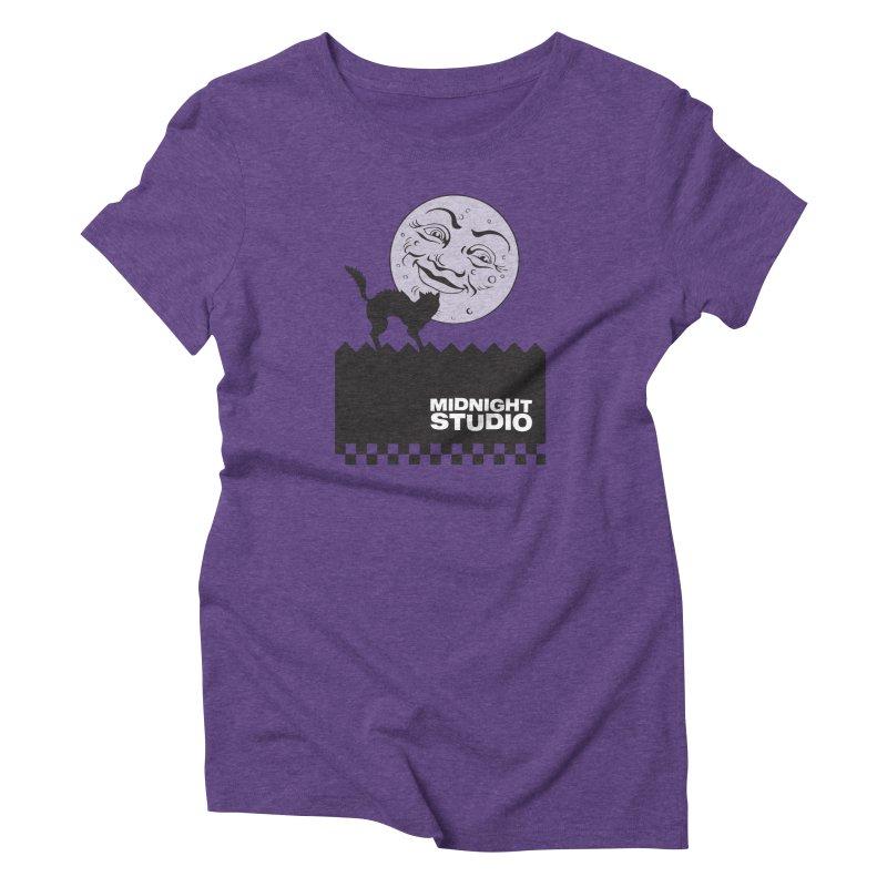 Classic Logo Shirt Women's Triblend T-Shirt by Midnight Studio