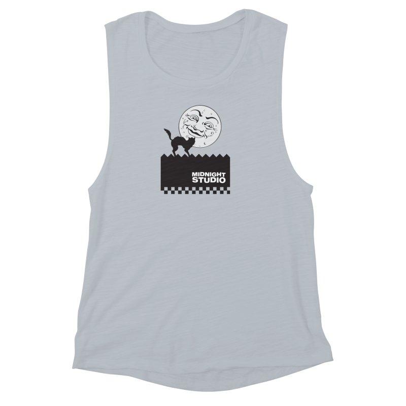 Classic Logo Shirt Women's Muscle Tank by Midnight Studio
