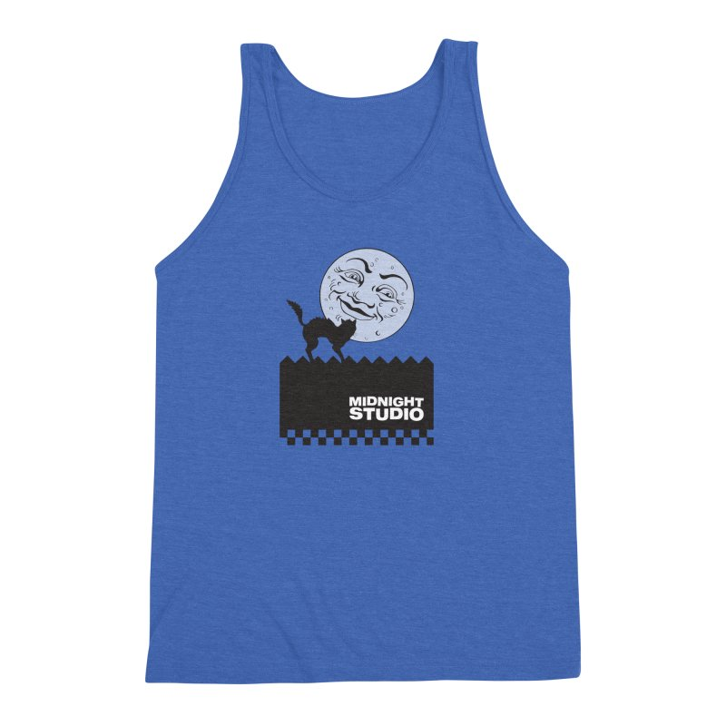 Classic Logo Shirt Men's Triblend Tank by Midnight Studio