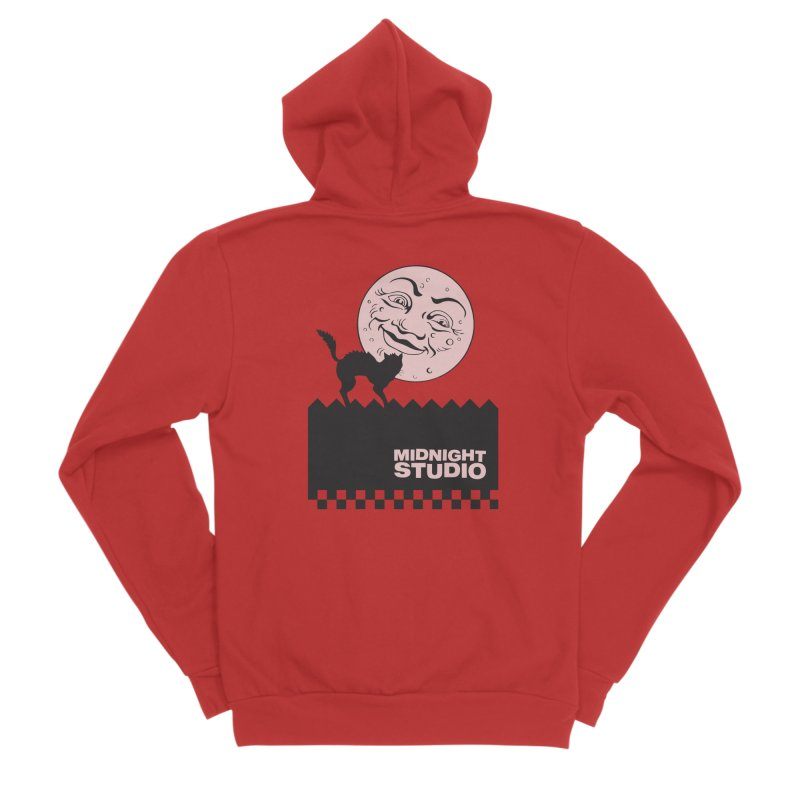 Classic Logo Shirt Men's Zip-Up Hoody by Midnight Studio