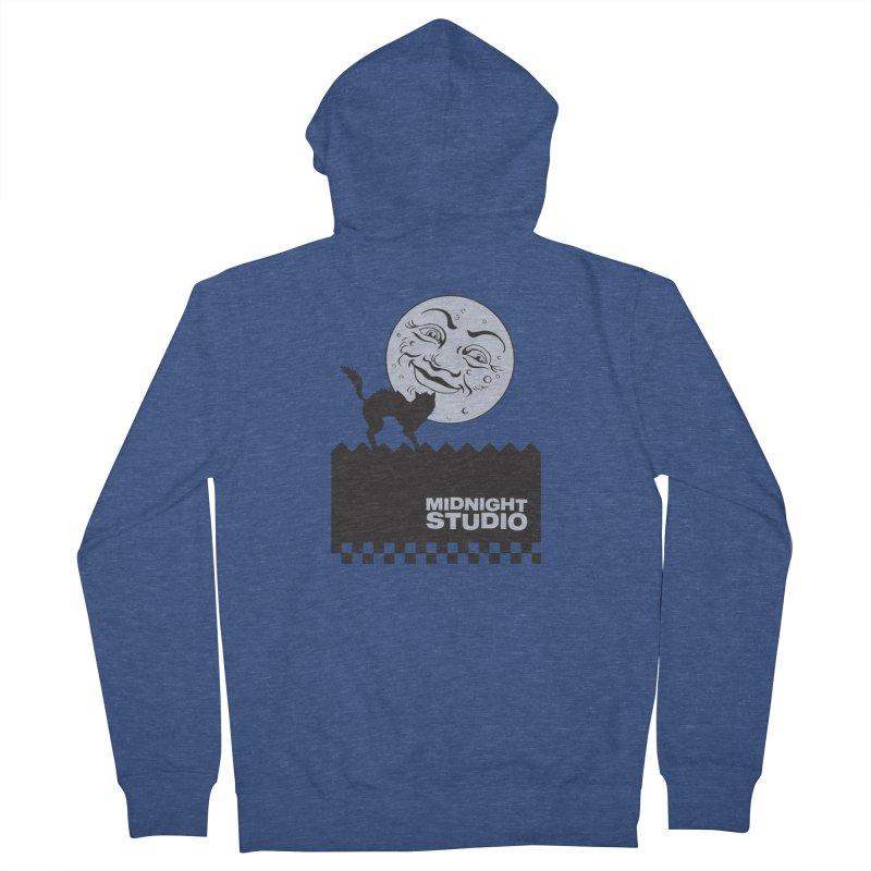 Classic Logo Shirt Men's French Terry Zip-Up Hoody by Midnight Studio