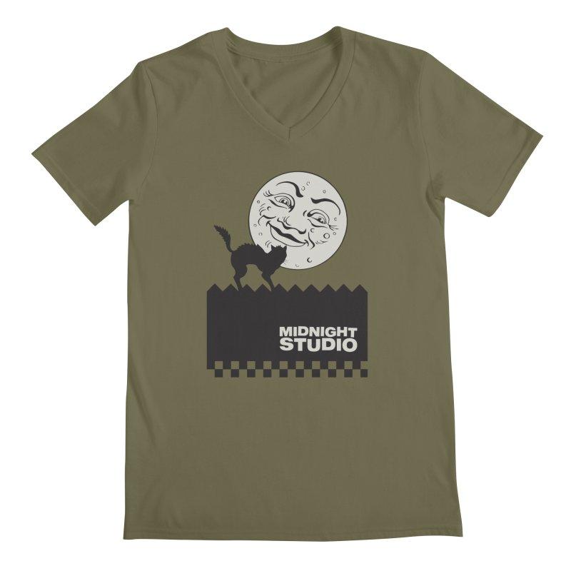 Classic Logo Shirt Men's Regular V-Neck by Midnight Studio
