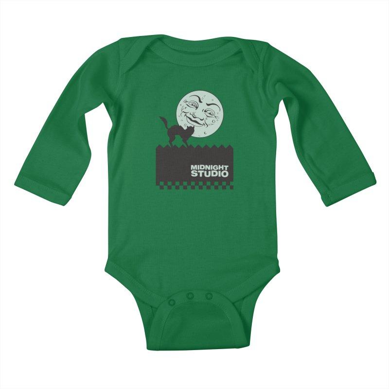 Classic Logo Shirt Kids Baby Longsleeve Bodysuit by Midnight Studio