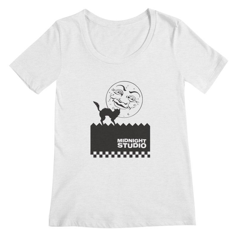 Classic Logo Shirt Women's Regular Scoop Neck by Midnight Studio