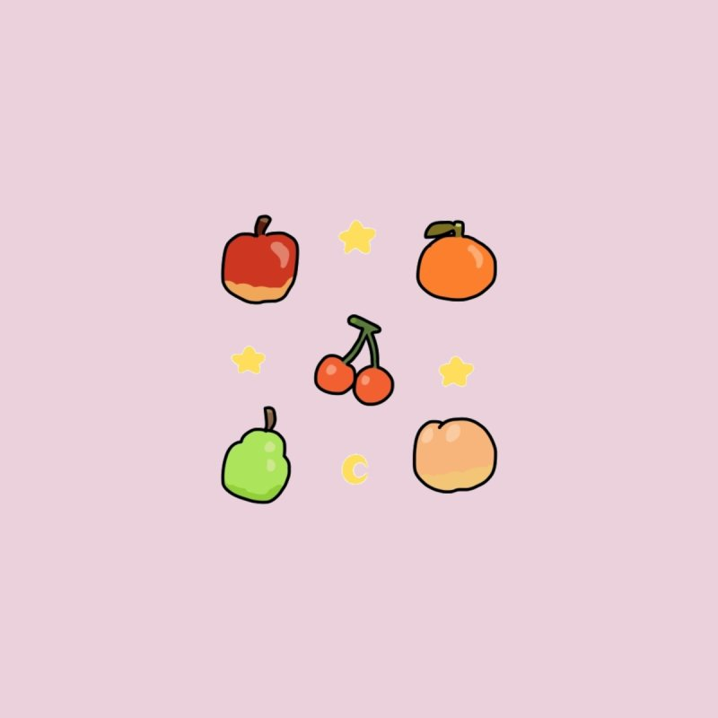 Animal Crossing Fruits Accessories Sticker by Redd's Art Shoppe