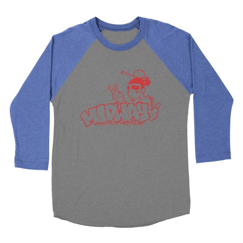Midway (Sean Doe Graffiti, North Side) Women's Baseball Triblend Longsleeve T-Shirt by Midway Shop