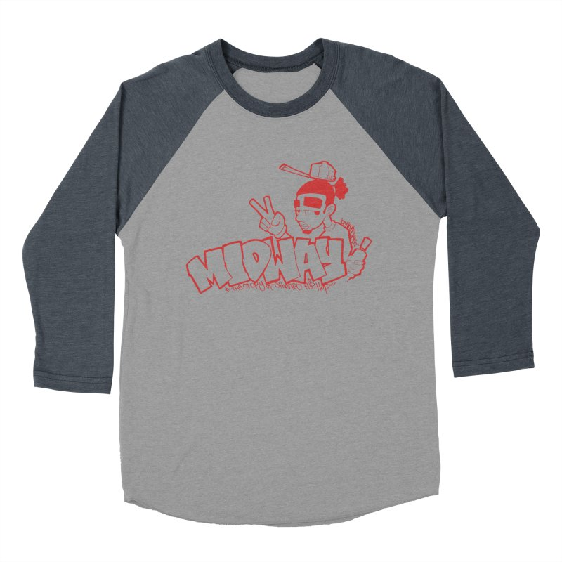 Midway (Sean Doe Graffiti, North Side) Women's Baseball Triblend Longsleeve T-Shirt by Midway Shop