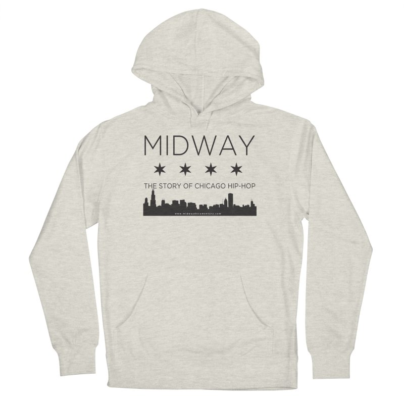 Midway (Black) Women's French Terry Pullover Hoody by Midway Shop