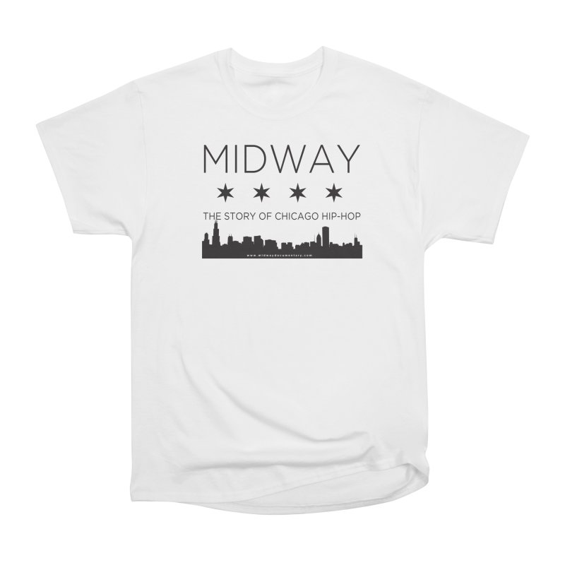 Midway (Black) Women's Heavyweight Unisex T-Shirt by Midway Shop