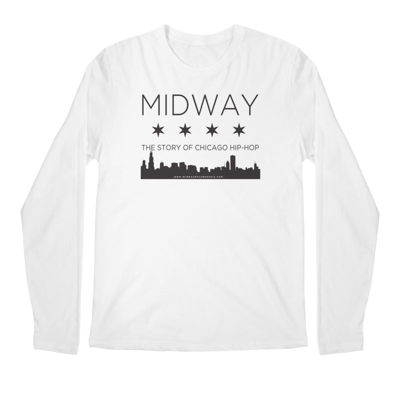 Midway (Black) Men's Regular Longsleeve T-Shirt by Midway Shop