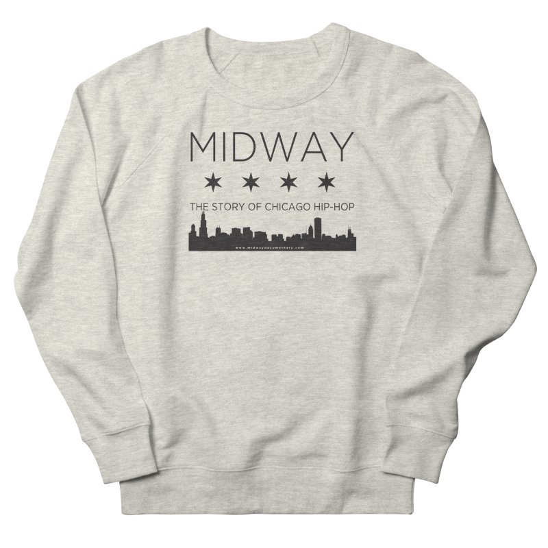 Midway (Black) Women's French Terry Sweatshirt by Midway Shop