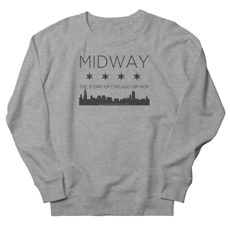 Midway (Black) Men's French Terry Sweatshirt by Midway Shop